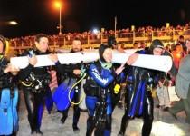 BAJO EL AGUA. El vía crucis submarino tiene seis estaciones.
