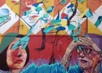 GRAFITTI.  En Villa Crespo se ofrecen recorridos a través del arte urbano.