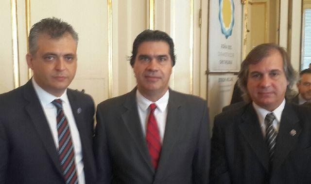 Juan Carlos López, Jorge Capitanich y Javier Grandinetti.