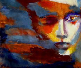 retrato abstracto cara de mujer