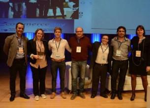 Los premiados. Marcos Pueyrredón (de ILCE), Yanina Batistella, Stefano Batistella, Daniel Asrin, Alejandro Albarenga, Patricia Jebsen (Cace).