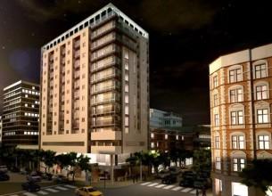 OBRA. El Faro de Olmos, con 80 departamentos y un local comercial de 500 m2, fue inaugurado el jueves pasado.