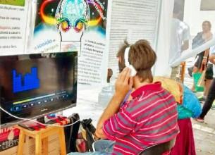 EN LA CALLE. Mediante el arte relacionaron conocimientos neurocientíficos con situaciones cotidianas