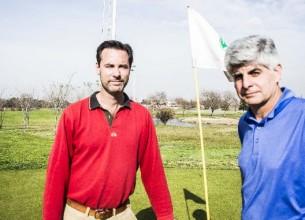 EX JUGADORES. Tagle y Monetti encabezan el proyecto Major Golf Academy.