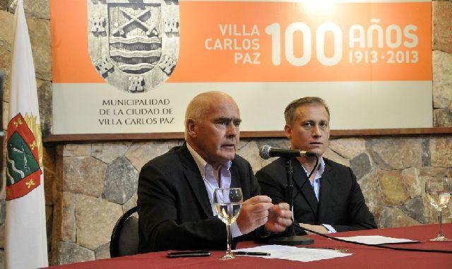 Enrique Meyer, ministro de Turismo de la Nación y Esteban Avilés, intendente de Villa Carlos Paz.