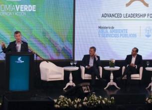 ACCIÓN. Macri apuntó a tomar conciencia y actuar de manera activa ante los desafíos ambientales.