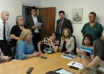 REUNIÓN. La Fepuc se reunió con la subsecretaria de Ingresos Públicos municipal, Mónica Ferla.