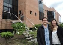 EMPRENDEDORES. María Pía Villanueva y Pedro Sonzini Astudillo inaugurarán Norte, el primer espacio de coworking  de la zona.