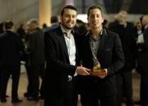 GALARDONADOS. Los ingenieros Iván Perin y Germán Miretti recibieron el Premio a Emprendedor Industrial el año pasado.
