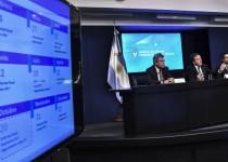NICOLÁS DUJOVNE. El ministro de Hacienda brindó una conferencia de prensa.