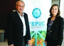 LILIANA BARBERO y SERGIO RANG. Presidente y vice de la Federación de Profesionales de Córdoba.
