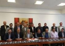 acta compromiso de la C20. Presidentes de cámaras sectoriales de Córdoba la rubricaron en la sede de Cipac (centro de panaderos).
