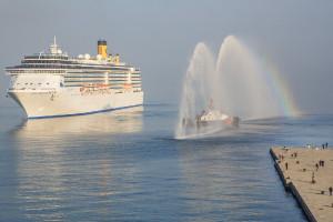 COSTA MEDITERRÁNEA. La nave está  equipada con más de mil cabinas.